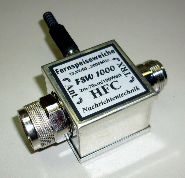 Fernspeiseweiche FSW 1000 N-Stecker-Buchse 50-2000 MHz