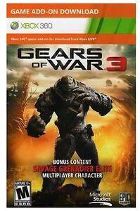 Gears-Of-War-3-Savage-Grenadier-Elite-Skin-DLC-Xbox-360-Live-Code-Multiplayer