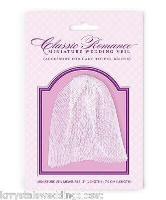 Classic Romance Miniature Veil For Cake Topper Bride