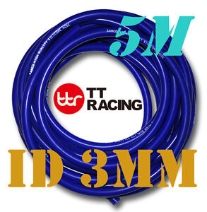 Silicone-3mm-Vacuum-Tube-Hose-Tubing-Radiator-Breather-Air-Pipe-5M-16-5ft-Blue