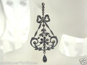 FILIGREE-amp-MARCASITE-STERLING-DANGLE-EARRINGS