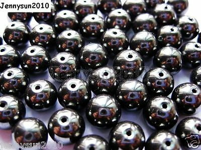 100Pcs Natural Hematite Gemstones Round Beads 2mm 3mm 4mm 6mm 8mm 9m 10mm 12mm