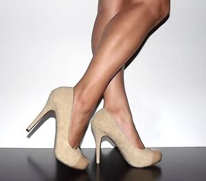 Womens High Heels Pump Natural Tan Beige Cap Toe Michael Antonio ...