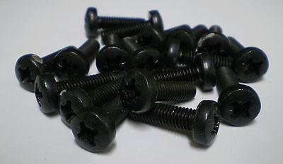 POZI PAN HEAD MACHINE SCREW M6x20 STEEL BLACK x 10 SCREWS