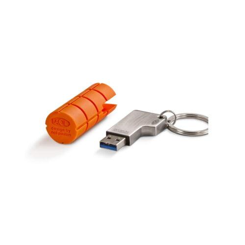 LACIE USB FLASH DRIVE RUGGEDKEY 3.0 PC MAC DROP IMPACT RESIST 32GB NEW 9000147