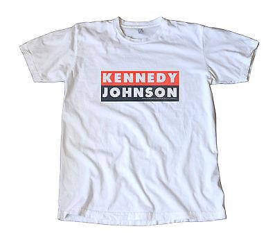 Vintage 1960 Kennedy Johnson Campaign Decal T-Shirt - Democrat, JFK, LBJ