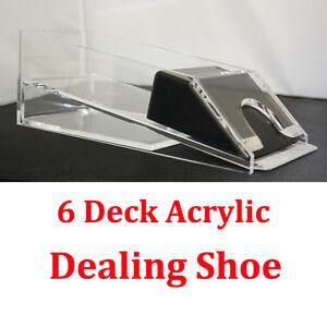 1-6-Decks-Blackjack-Dealing-Shoe-Real-Acrylic-Material