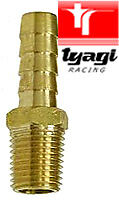 Fuel-Pump-Brass-Hose-Union-1-8nptf-6mm-1-4-outlet-tail-for-Facet