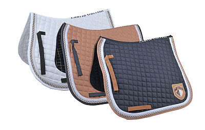 *REDUCED*  HKM Valence Check Dressage Saddle Pad - Quick Dry Breathable Lining