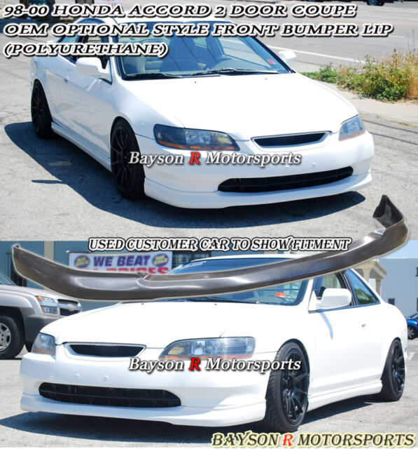OE Optional Style Front Lip (Urethane) Fits 98-00 Honda Accord 2dr