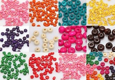 1000pcs Lots Wooden Mini Seed Spacer Beads 5.5x3mm Jewelry Making Findings DIY