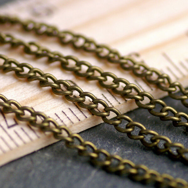 2.3mm Antique Bronze Plated Link Chains Width2.3mm c212b (6ft)