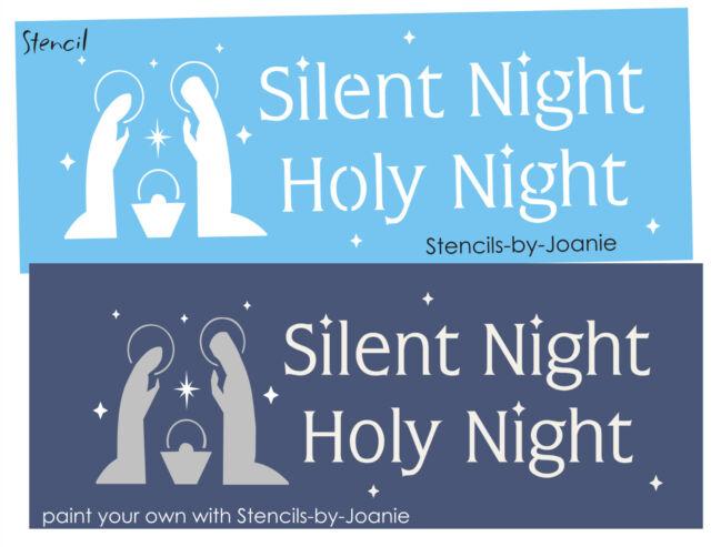 STENCIL Silent Night Mary Joseph Jesus Nativity Star Primitive Christmas Holiday