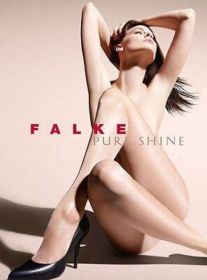 Falke PURE SHINE 15 Transparent SHINING Pantyhose Tights HIGH GLOSS II M BLACK