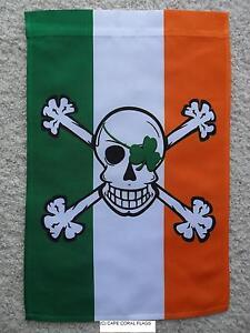 12-034-X18-034-ST-PATRICK-039-S-DAY-IRISH-PIRATE-GARDEN-BANNER-034-BLARNEY-BONES-034