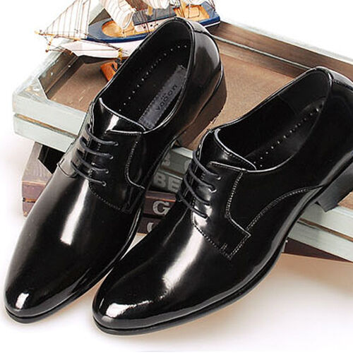 New Comfort Mens Dress Shoes Formal Lace up Oxfords Classic Leather Casual Black