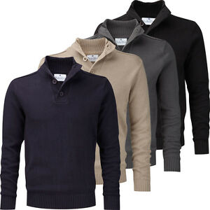 CHARLES-WILSON-MENS-COTTON-BUTTON-NECK-SWEATER-NEW