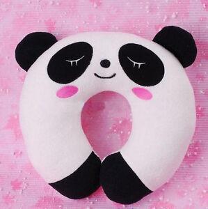 Panda-Soft-U-Neck-Rest-Car-Office-Travel-Pillow-Gift-J