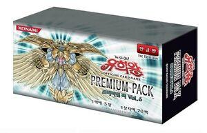 YUGIOH-CARDS-PREMIUM-PACK-NO-6-BOOSTER-BOX-Korean-Ver-Trading-Card-Games