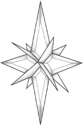 Stained Glass Supplies 3D Star Bevel Cluster EC343