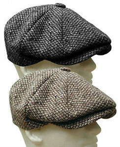 WOOLRICH-Wool-Tweed-Gatsby-Newsboy-Cap-Men-Ivy-Hat-Golf-Driving-Flat-Cabbie