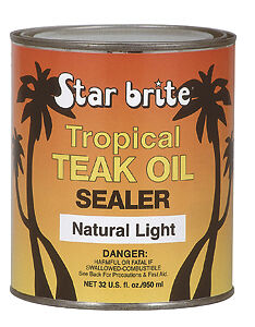 Starbrite Tropical Teak Oil Sealer Natural Light