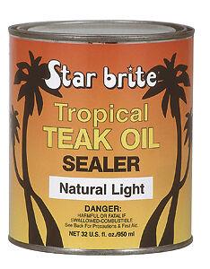 Starbrite Tropical Teak Oil Natural Light
