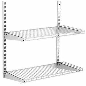 Image Is Loading Rubbermaid Configurations Add On Shelving Kit Wardrobe  Closet