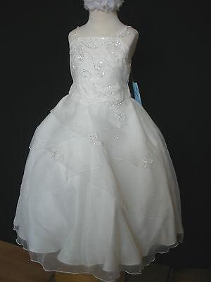 Girl Wedding Graduation Prom Recital Formal Party Dress Ivory size: 2 4 6 8 10