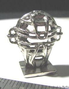 Major League Baseball Catcher's Mask metal token pewter mini game part Monopoly