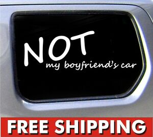 Not My Boyfriends Car JDM Decal Sticker Girl Racing Vinyl Window - Car decal sticker girl