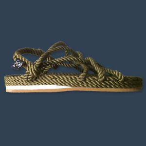 Nomadic-State-of-Mind-Jesus-Rope-Sandals-Mens-43-w-Vibram-Sole-US-10-11-SAGE