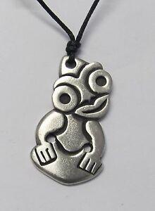 Tiki-Maori-Pewter-Pendant-Necklace-FREE-SHIPPING