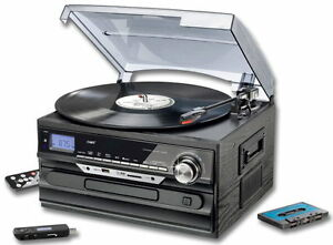 stereoanlage mit encoding hifi anlage platte cd radio usb. Black Bedroom Furniture Sets. Home Design Ideas