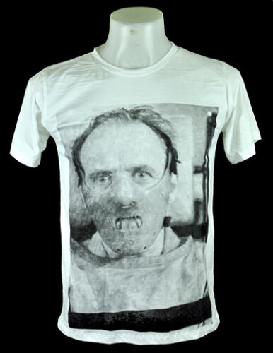 Hannibal Anthony Hopkins White T-Shirt Indy punk Rock 100% cotton Tee Size L