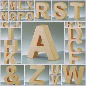 17-5cm-Paper-Mache-Large-Cardboard-Letters-Shapes-amp-Signs-3D-Craft-Choose-Letter