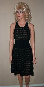 88-Victoria-Secret-Moda-Black-Open-Stitch-Dress-M-L