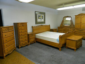surewood summit furniture mfgs solid oak bedroom set american made
