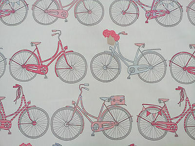 Ashley Wilde Totnes Bluebell Bicycle Designer Curtain Upholstery Fabric