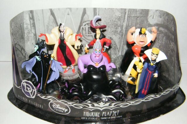Disney Villains Exclusive Figure Set of 6 with Queen of Hearts, Maleficent Etc