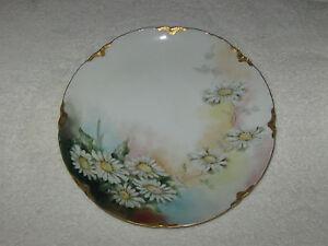 Antique/Vintage Hand Painted China Plate - Limoge Haviland, Flowers/Gold Trim #2