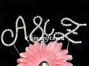 Crystal-Clear-Rhinestone-Diamante-Monogram-Initial-Letter-Cake-Topper-Wedding