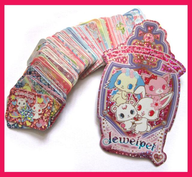 sanrio jewelpet very cute rabbit dog cat glitter & paper sticker set 101 pcs