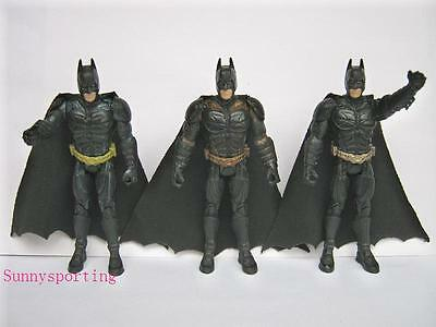 "LOT OF 3 DC THE DARK KNIGHT BATTLE BATMAN 4"" ACTION FIGURES"