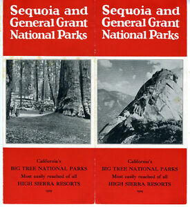 1929 Brochure from Sequoia & General Grant National Parks w/ Photos