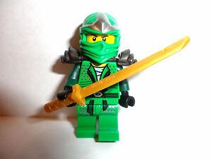 LEGO-Ninjago-LLOYD-ZX-Green-Ninja-miniFigure-with-golden-sword-new-9450