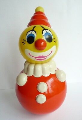 1950s Vintage USSR Russian Soviet CELLULOID Toy Doll CLOWN