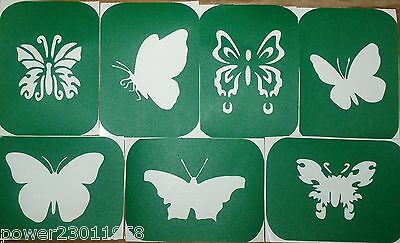 Pack of 7 BUTTERFLIES-1 Glass Etching Stencils