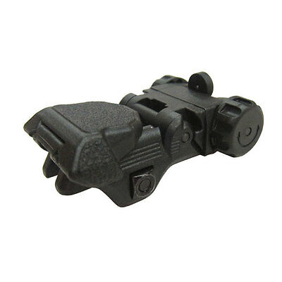 ICS Airsoft Adjustable Flip Up CXP Back Up Rear Sight 20mm ABS Plastic MA-161