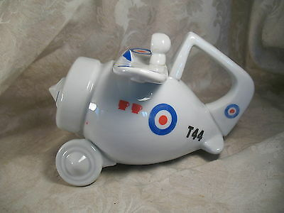 Vintage 1970s Airplane Ceramic Tea pot T44